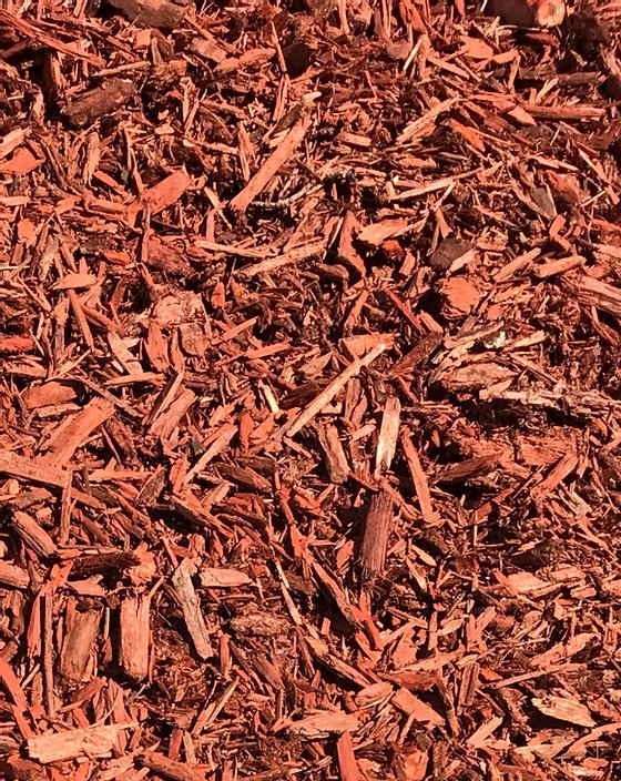 Brick Red Mulch Installation